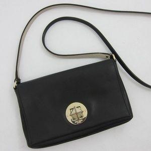 Kate Spade Black Leather Crossbody Purse *C13